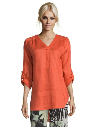 CARTOON Lniana bluzka w kolorze pomarańczowym