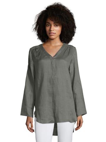 CARTOON Lniana bluzka w kolorze antracytowym
