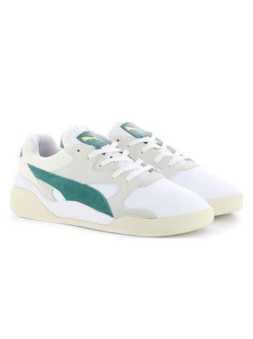 """Puma Skórzane sneakersy """"Aeon Heritage"""" w kolorze biało-zielonym"""