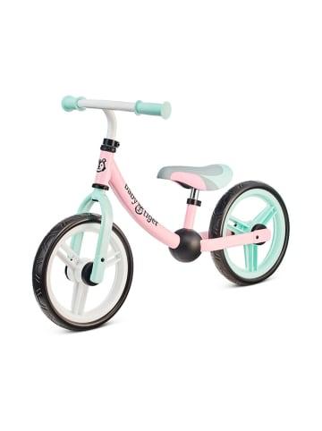 """Kinderkraft Rowerek biegowy """"Flow"""" w kolorze miętowo-szaro-różowym - 2+"""
