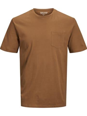 """Jack & Jones Koszulka """"COLTON"""" w kolorze jasnobrązowym"""