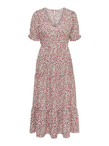 """ONLY Sukienka """"Dia"""" w kolorze biało-różowym"""