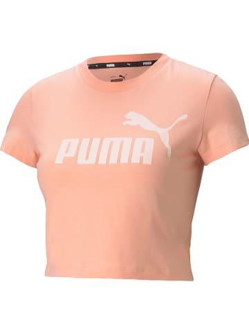 """Puma Koszulka """"ESS Slim"""" w kolorze pomarańczowym"""