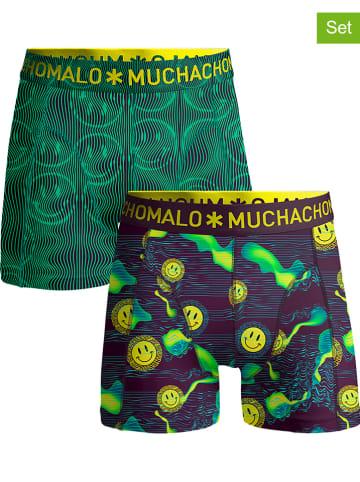Muchachomalo 2-delige set: boxershorts groen/paars