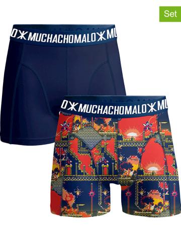 Muchachomalo 2er-Set: Boxershorts in Dunkelblau/ Bunt