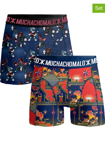 Muchachomalo 2-delige set: boxershorts blauw/meerkleurig
