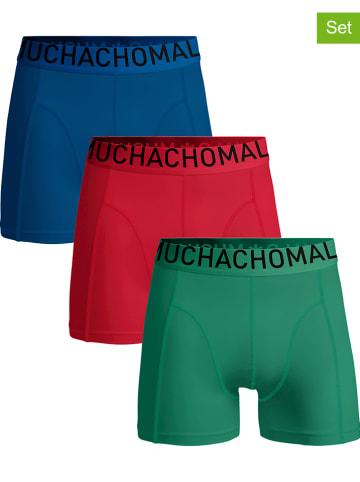 Muchachomalo 3-delige set: boxershorts blauw/groen/rood