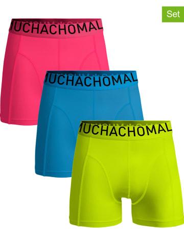 Muchachomalo 3-delige set: boxershorts blauw/groen/roze