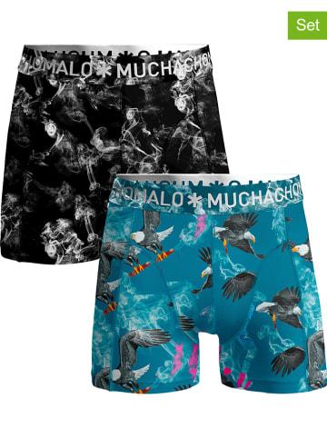 Muchachomalo 2-delige set: boxershorts zwart/blauw