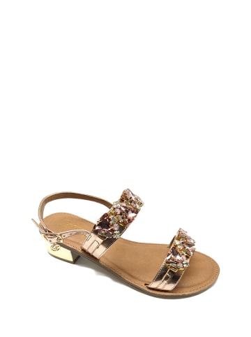 Gardini Sandały w kolorze różowego złota