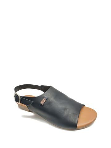 Gardini Skórzane sandały w kolorze czarnym
