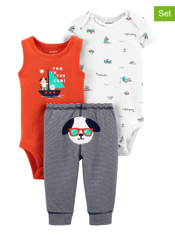 Carter's 3-delige outfit oranje/blauw