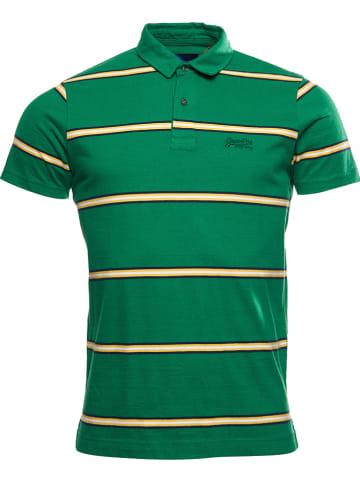 """Superdry Koszulka polo """"Academy"""" w kolorze zielonym"""