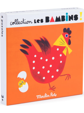 """Moulin Roty Puzzle (4 szt.) """"Les Bambins"""" - 3+"""