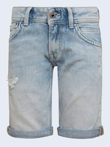 Pepe Jeans Bermudy dżinsowe w kolorze błękitnym