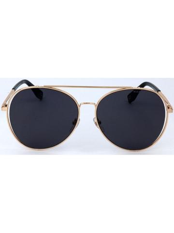 Marc Jacobs Damskie okulary przeciwsłoneczne w kolorze czarno-złotym