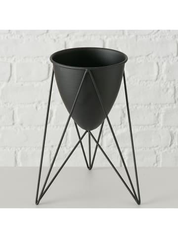 """Boltze Doniczka """"Milvo"""" w kolorze czarnym - wys. 25 x Ø 18 cm"""