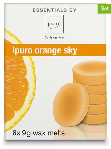 """Ipuro 2er-Set: Wachsplättchen """"Orange Sky"""" - 2x 6 Stück (à 9 g)"""