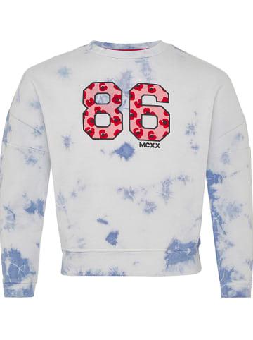 Mexx Sweatshirt wit/lichtblauw
