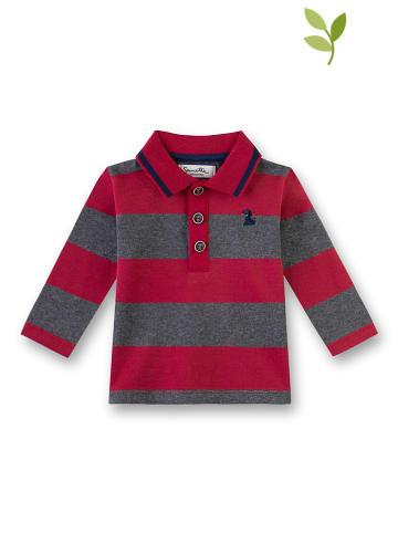 Fiftyseven by sanetta Koszulka polo w kolorze czerwono-szarym