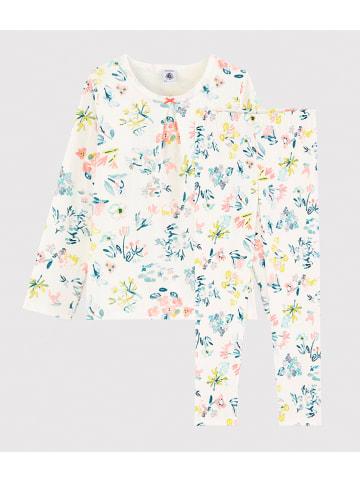 PETIT BATEAU Pyjama wit/meerkleurig
