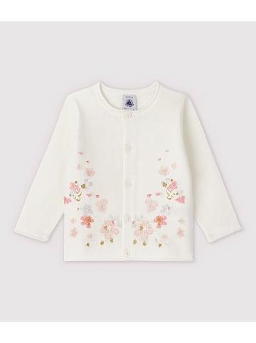 PETIT BATEAU Vest crème/lichtroze
