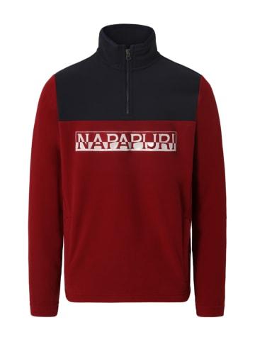"""Napapijri Bluza polarowa """"Tanni"""" w kolorze czerwono-czarnym"""