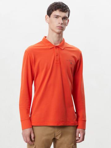 """Napapijri Koszulka polo """"Eisberg"""" w kolorze pomarańczowym"""