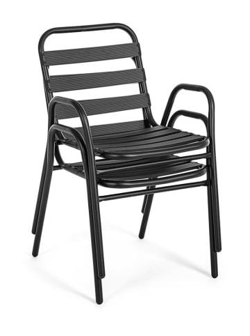 Bizzotto Tuinstoel zwart - (B)52 x (H)76 x (D)58 cm