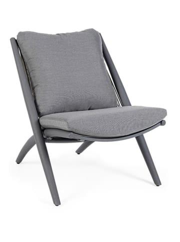 Bizzotto Fotel ogrodowy w kolorze ciemnoszarym - (S)76 x (W)86 x (G)80 cm