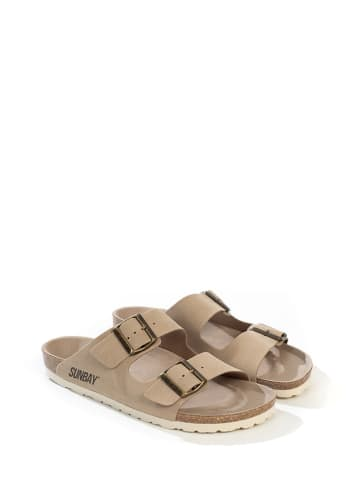 "Sunbay Slippers ""Trefle"" beige"