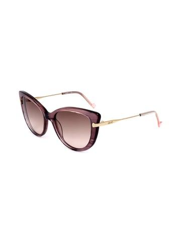 """Liu Jo Okulary przeciwsłoneczne """"LJ705S 38923"""" w kolorze złoto-jasnoróżowym"""