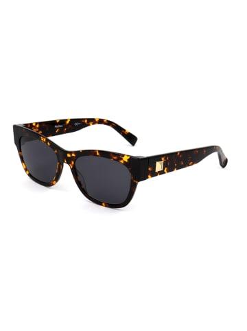 Max Mara Damskie okulary przeciwsłoneczne w kolorze ciemnobrązowo-żółto-czarnym