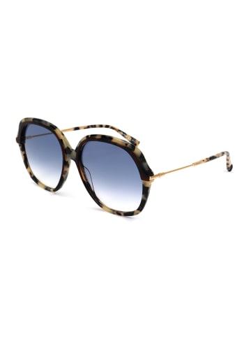 Max Mara Damskie okulary przeciwsłoneczne w kolorze czarno-beżowo-niebieskim
