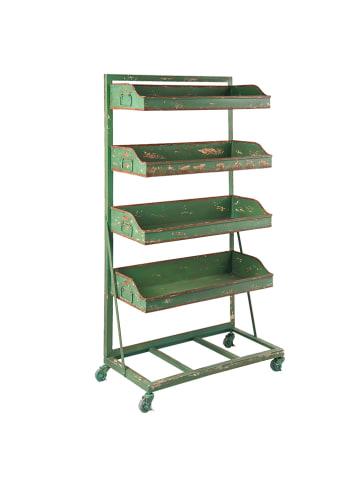 Clayre & Eef Regał w kolorze zielonym - 71 x 133 x 40 cm
