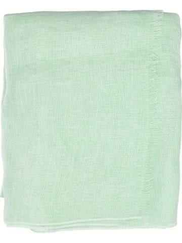 Mexx Lniana chusta w kolorze jasnozielonym - 195 x 60 cm