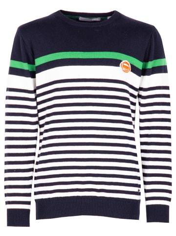 Mexx Sweter w kolorze granatowo-białym