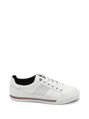 Tommy Hilfiger Skórzane sneakersy w kolorze białym