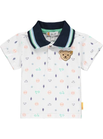 Steiff Poloshirt wit/meerkleurig