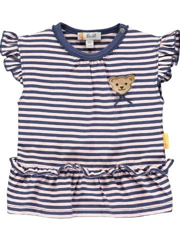 Steiff Shirt donkerblauw/lichtroze