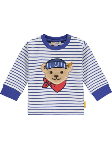 Steiff Sweatshirt donkerblauw/wit