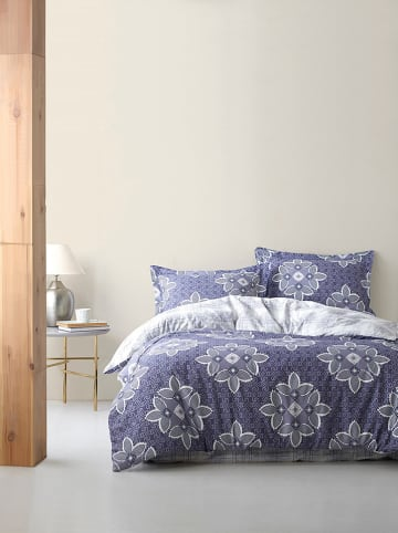 Colourful Cotton Komplet pościeli renforcé w kolorze niebieskim