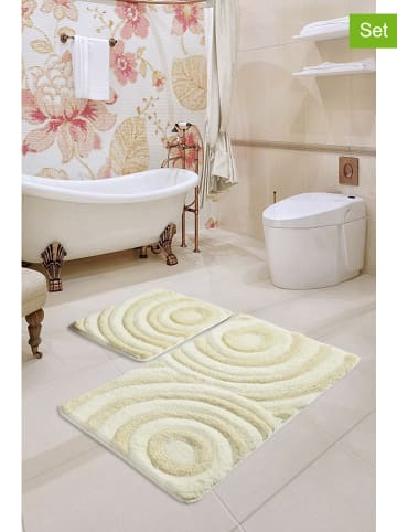 Colourful Cotton 2-delige set: badmatten beige