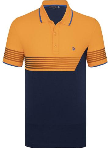 GIORGIO DI MARE Koszulka polo w kolorze granatowo-pomarańczowym