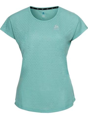"""Odlo Koszulka """"Easy"""" w kolorze turkusowym do biegania"""