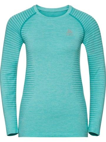 """Odlo Koszulka sportowa """"Essential Seamless"""" w kolorze turkusowym"""