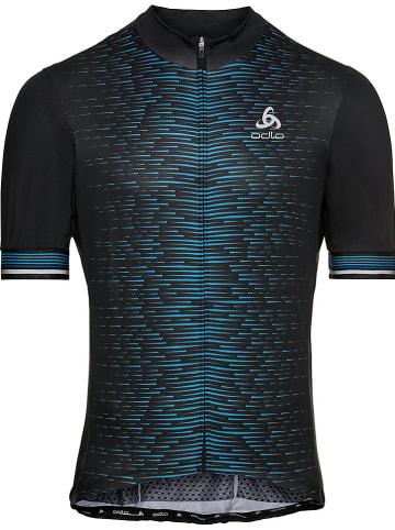 """Odlo Koszulka kolarska """"Zeroweight Ceramicool"""" w kolorze niebiesko-czarnym"""