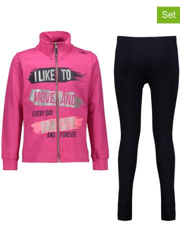 CMP 2-delige outfit roze/zwart