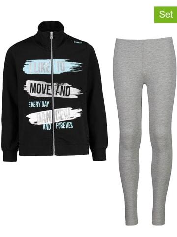 CMP 2-delige outfit zwart/grijs