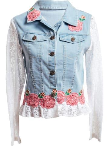 SIGRIS Moda Spijkerjas lichtblauw/wit